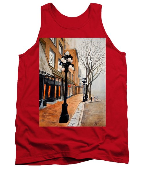 Tank Top featuring the painting Gastown, Vancouver by Sher Nasser