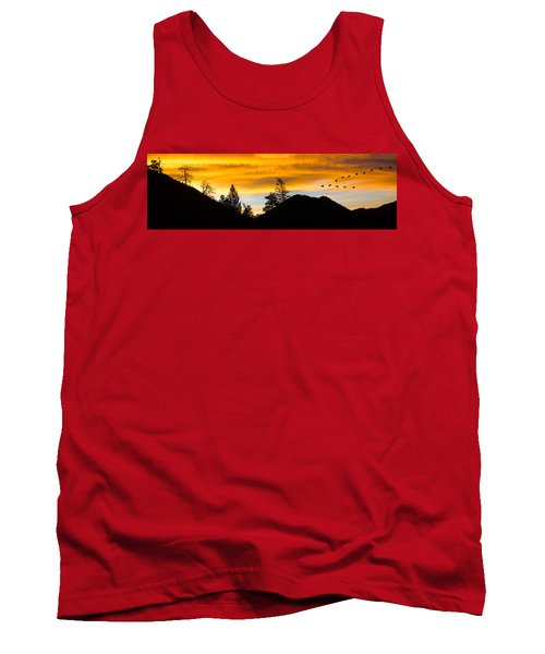 Geese At Sunrise Tank Top