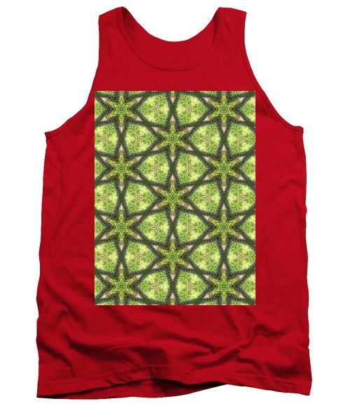Geo Stars In Greens Tank Top