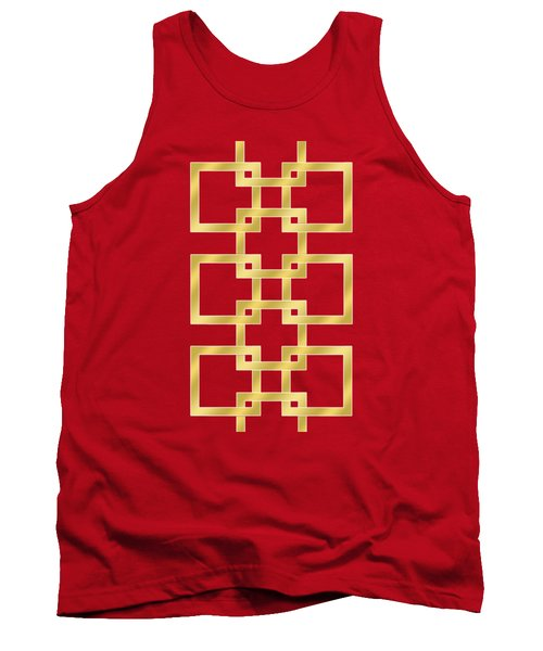 Geometric Transparent Tank Top by Chuck Staley