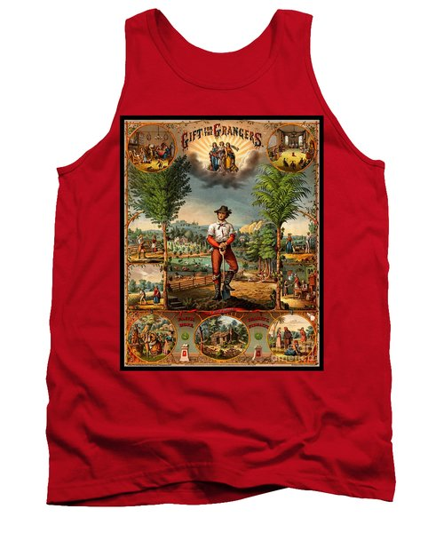 Gift For The Grangers 1873 Victoiran National Grange Agriculture Promotional Art Tank Top