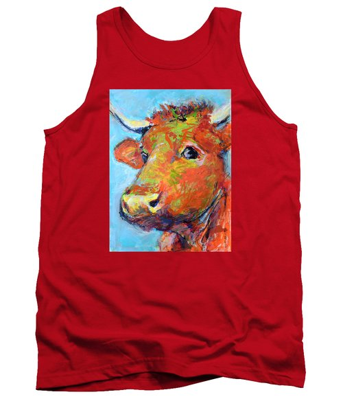 Tank Top featuring the painting Ginger Horn by Mary Schiros
