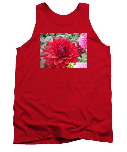 Glory Crimson Dahlia  Tank Top