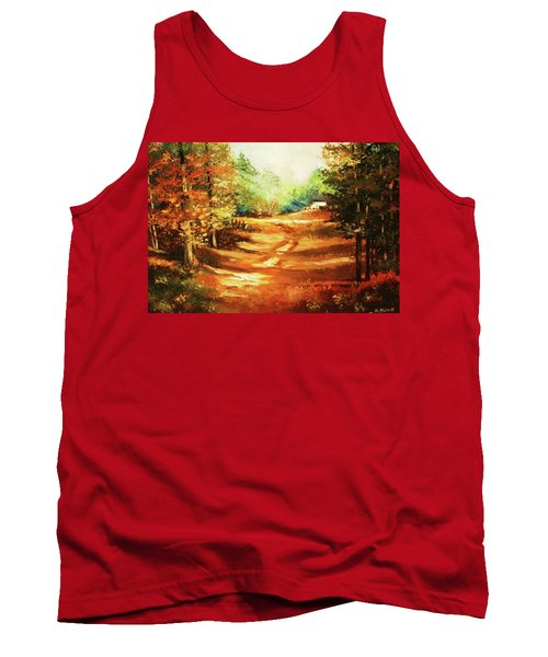 Glory Road In Autumn Tank Top by Al Brown