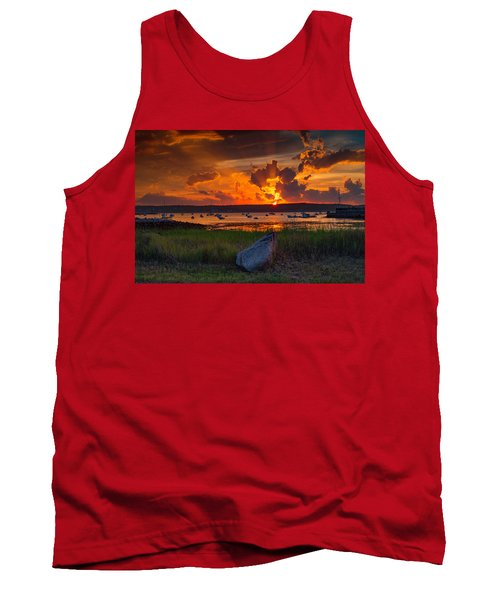 Gloucester Harbor Sunset Tank Top