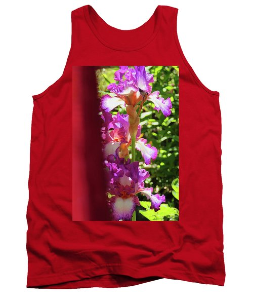Glowing Iris Tower - Behind The Red Curtain Tank Top