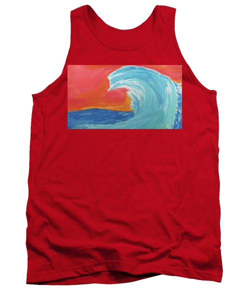 Gnarly Wave  Tank Top by Don Koester