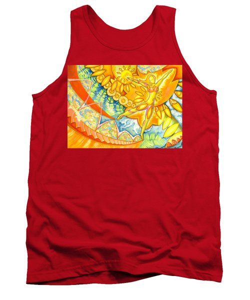 Go Confidently In The Direction Of Your Dreams Tank Top by Mark Stankiewicz
