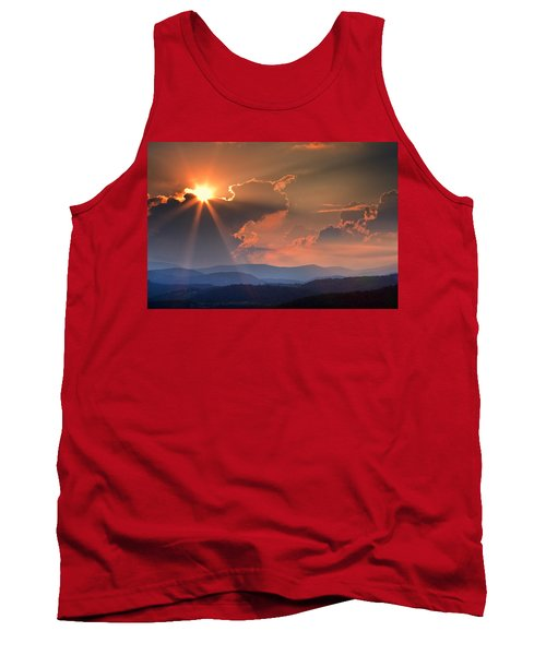 God Rays Over N C  Mountains Tank Top