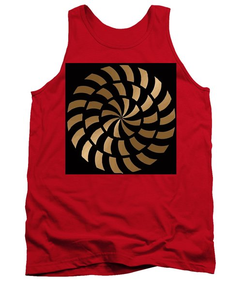 Gold And Black Ny Design Tank Top