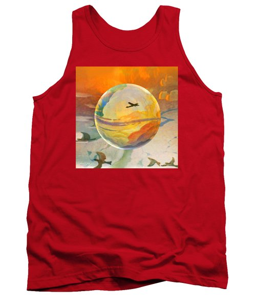 Tank Top featuring the painting Golden Age Of Flight by Robin Moline