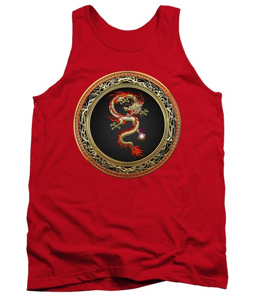 Golden Chinese Dragon Fucanglong Tank Top