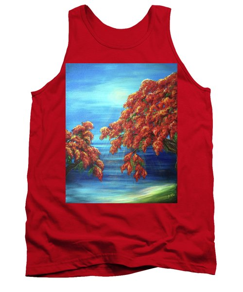 Golden Flame Tree Tank Top