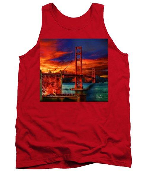 Golden Gate Sunset Tank Top