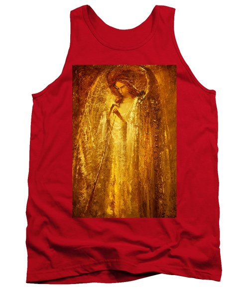 Golden Light Of Angel Tank Top