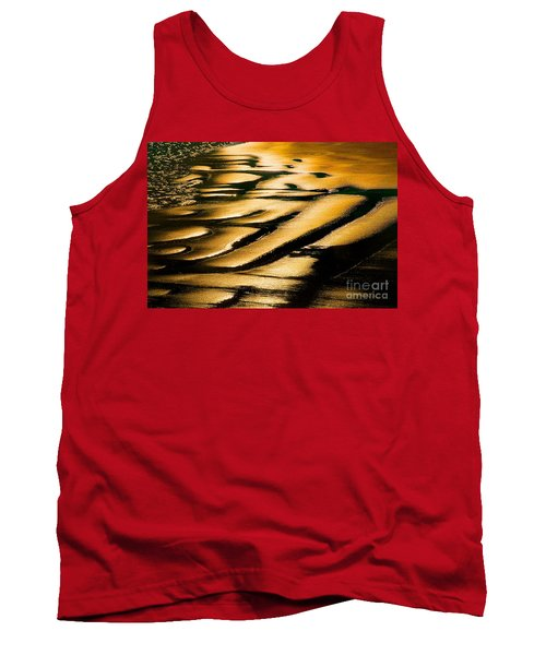 Golden Light On The Wet Sand, Point Reyes National Seashore Mar Tank Top by Wernher Krutein