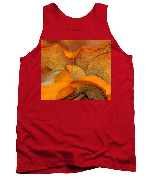 Golden Mushroom Abstract Tank Top