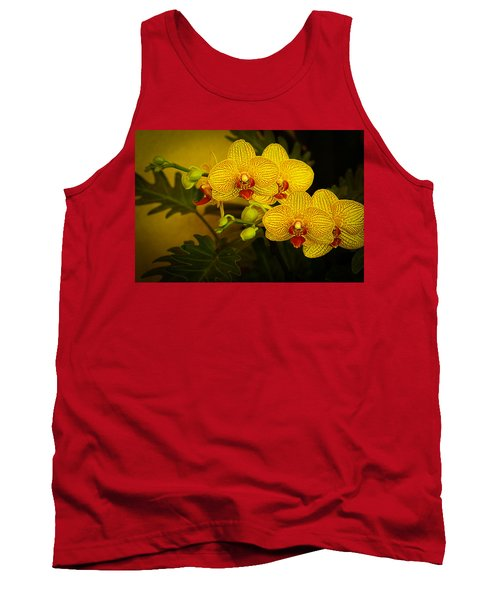 Golden Orchids Tank Top