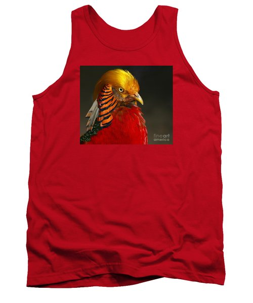Tank Top featuring the photograph Golden Ornamental Pheasant by Debbie Stahre