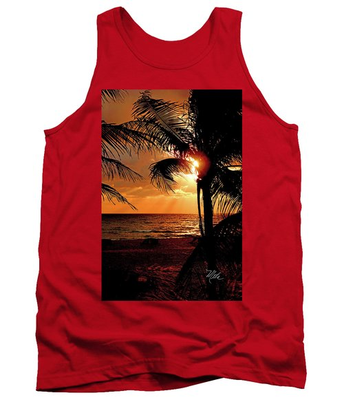 Golden Palm Sunrise Tank Top