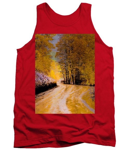 Tank Top featuring the photograph Golden Road by Kristal Kraft