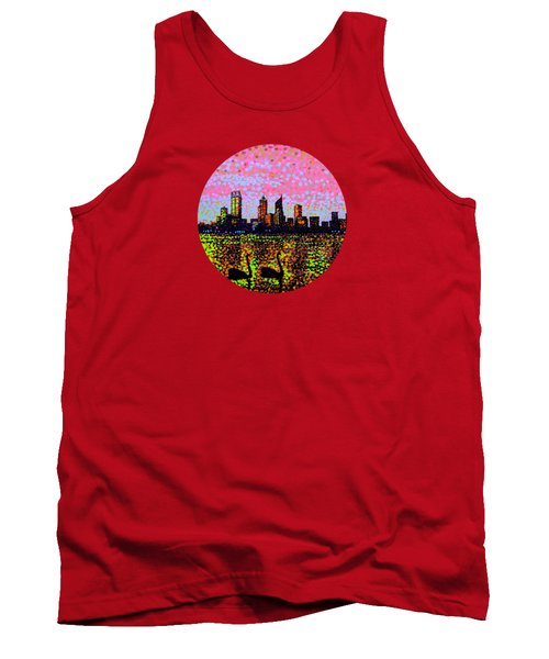 Golden Skyline Perth Tank Top by Alan Hogan