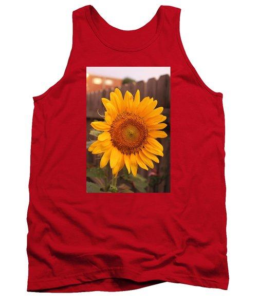 Golden Sunflower Closeup Tank Top