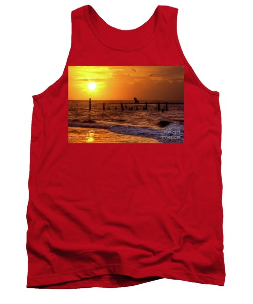 Golden Sunrise On The Outer Banks Tank Top by Dan Carmichael