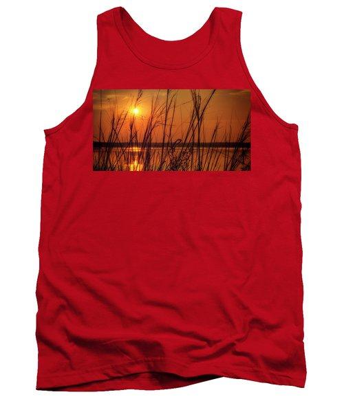Golden Sunset At The Lake Tank Top