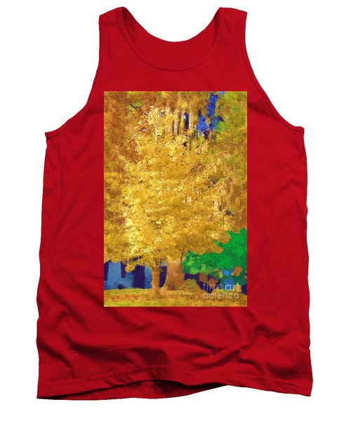 Tank Top featuring the photograph Golden Tree by Donna Bentley