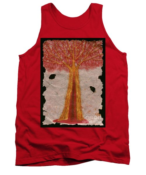 Golden Trees Crying Tears Of Blood Tank Top by Talisa Hartley
