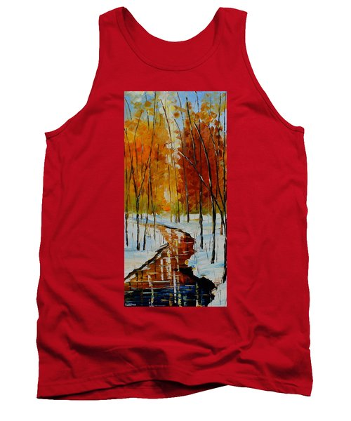 Golden Winter Tank Top