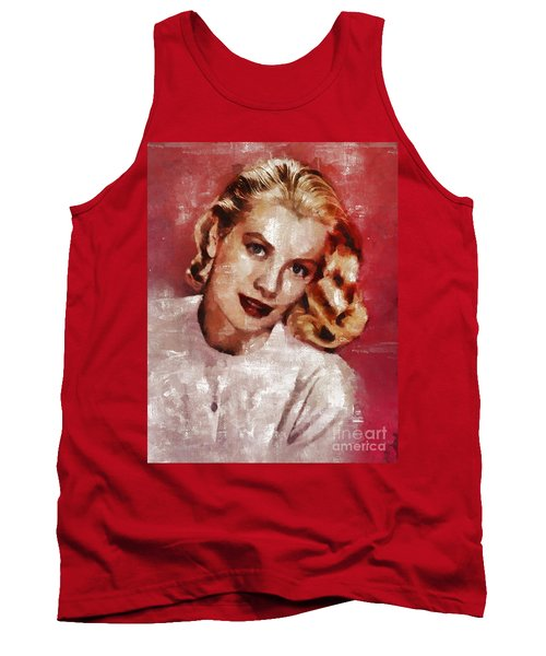 Grace Kelly, Actress And Princess Tank Top by Mary Bassett