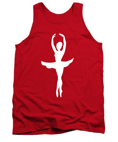 Graceful Silhouette Of Dancing Ballerina Tank Top