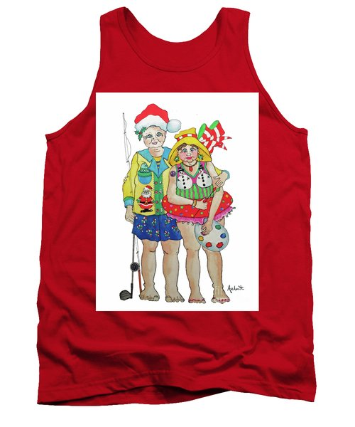 Gram - Cracker And Papa Tank Top by Rosemary Aubut
