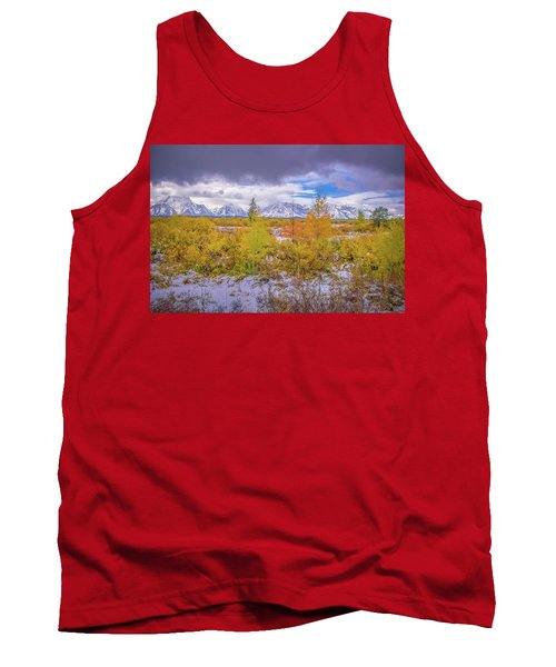 Grand Teton Fall Snowfall Tank Top