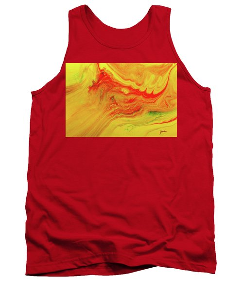 Gratitude - Red And Yellow Colorful Abstract Art Painting Tank Top