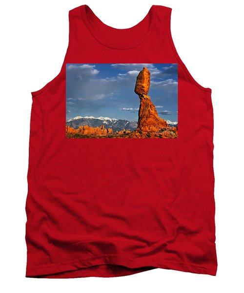 Gravity Defying Balanced Rock, Arches National Park, Utah Tank Top