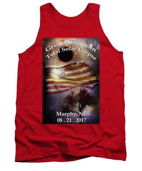 Great American Eclipse American Flag T Shirt Art Tank Top