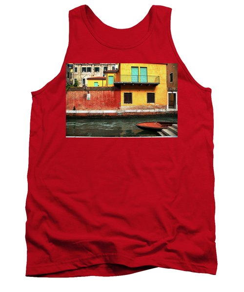 Green Doors Tank Top by Sharon Jones