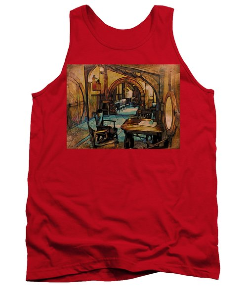 Green Dragon Writing Nook Tank Top by Kathy Kelly