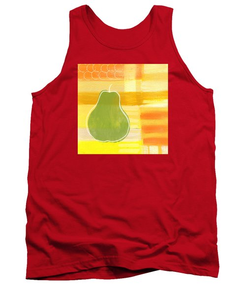 Tank Top featuring the painting Green Pear- Art By Linda Woods by Linda Woods