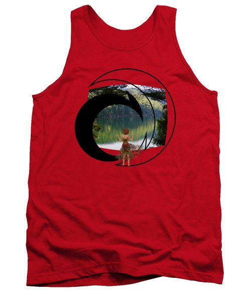 Green Reflections Tank Top