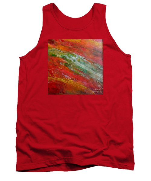 Tank Top featuring the painting Green River by Dragica  Micki Fortuna
