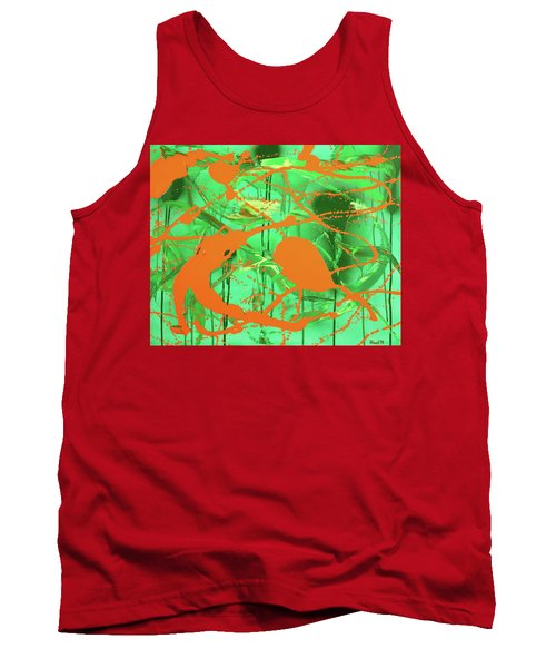 Green Spill Tank Top by Thomas Blood