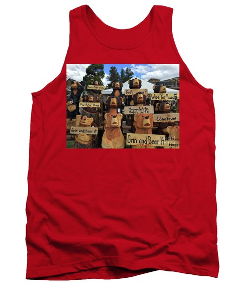 Grin And Bear It Tank Top by Beth Saffer