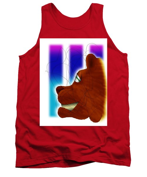 Grin And Bear It Tank Top by Ismael Cavazos