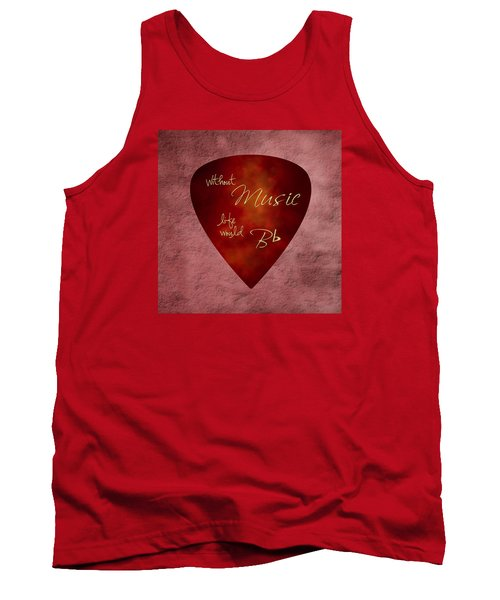Guitar Pick - Without Music Tank Top