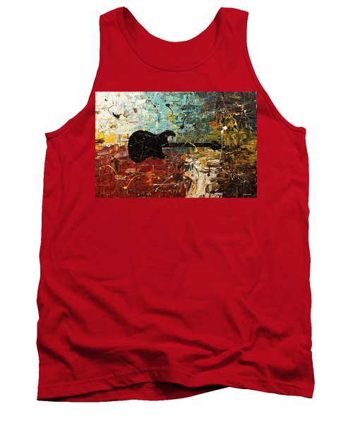 Tank Top featuring the painting Guitar Story by Carmen Guedez