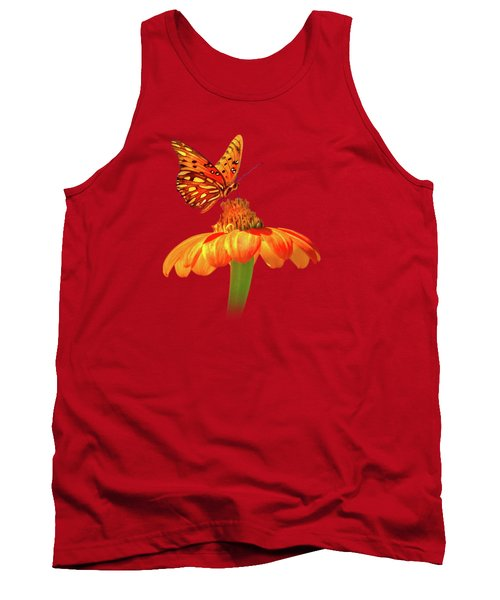 Gulf Fritillary Landing Tank Top by Mark Andrew Thomas